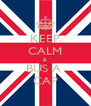 KEEP CALM & BUS A  CAP - Personalised Poster A4 size