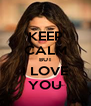 KEEP CALM BUT I LOVE YOU - Personalised Poster A4 size