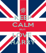 KEEP CALM BUT  LOVE  HARRY - Personalised Poster A4 size