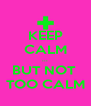 KEEP CALM ... BUT NOT  TOO CALM - Personalised Poster A4 size