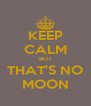 KEEP CALM BUT THAT'S NO MOON - Personalised Poster A4 size