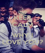 KEEP CALM BUT WHY I LOVE YOU? - Personalised Poster A4 size