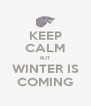KEEP CALM BUT WINTER IS COMING - Personalised Poster A4 size