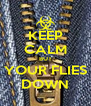 KEEP CALM BUT YOUR FLIES DOWN - Personalised Poster A4 size