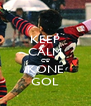 KEEP CALM C'E' KONE GOL - Personalised Poster A4 size