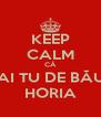 KEEP CALM CĂ DAI TU DE BĂUT HORIA - Personalised Poster A4 size
