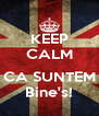 KEEP CALM  CA SUNTEM Bine's! - Personalised Poster A4 size