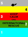 KEEP CALM CALL INTERNATIONAL RESCUE - Personalised Poster A4 size