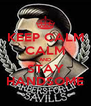 KEEP CALM CALM AND STAY HANDSOME - Personalised Poster A4 size