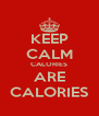KEEP CALM CALORIES ARE CALORIES - Personalised Poster A4 size