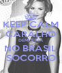 KEEP CALM CARALHO DEMI ESTÁ NO BRASIL SOCORRO - Personalised Poster A4 size