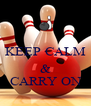 KEEP CALM  & CARRY ON - Personalised Poster A4 size