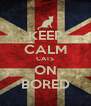 KEEP CALM CATS ON BORED - Personalised Poster A4 size