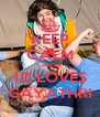 KEEP CALM CAUSE  1D LOVES GAYATHRI - Personalised Poster A4 size