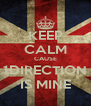 KEEP CALM CAUSE 1DIRECTION IS MINE - Personalised Poster A4 size