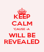KEEP CALM 'CAUSE -A WILL BE REVEALED - Personalised Poster A4 size