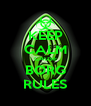 KEEP CALM CAUSE BORG RULES - Personalised Poster A4 size