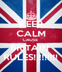 KEEP CALM CAUSE  BRITAIN  RULES!!!!!!!!! - Personalised Poster A4 size