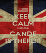 KEEP CALM CAUSE CANDE IS THERE!!! - Personalised Poster A4 size