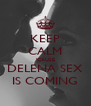 KEEP CALM 'CAUSE DELENA SEX IS COMING - Personalised Poster A4 size