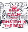 """KEEP CALM """"CAUSE"""" EINSTEIN is THE BEST - Personalised Poster A4 size"""