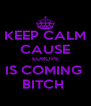 KEEP CALM CAUSE EUROPE IS COMING  BITCH  - Personalised Poster A4 size