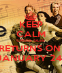 KEEP CALM CAUSE GLEE RETURNS ON  JANUARY 24! - Personalised Poster A4 size
