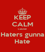 KEEP CALM cause Haters gunna Hate - Personalised Poster A4 size