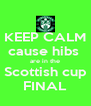 KEEP CALM cause hibs  are in the Scottish cup FINAL - Personalised Poster A4 size