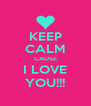 KEEP CALM CAUSE I LOVE YOU!!! - Personalised Poster A4 size