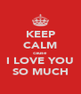 KEEP CALM cause I LOVE YOU SO MUCH - Personalised Poster A4 size