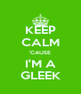 KEEP CALM 'CAUSE I'M A GLEEK - Personalised Poster A4 size