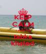 KEEP CALM cause I'm tabka khaled - Personalised Poster A4 size