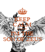 KEEP CALM 'CAUSE I'M THE SON OF ZEUS - Personalised Poster A4 size