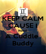 KEEP CALM CAUSE I Need  A Cuddle  Buddy - Personalised Poster A4 size