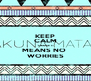 KEEP CALM 'CAUSE IT MEANS NO  WORRIES - Personalised Poster A4 size