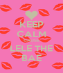 KEEP CALM CAUSE LELE THE BAE - Personalised Poster A4 size