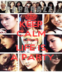 KEEP CALM CAUSE LIFE IS  A PARTY - Personalised Poster A4 size
