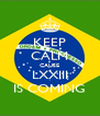 KEEP CALM CAUSE LXXIII IS COMING - Personalised Poster A4 size