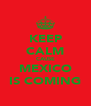 KEEP CALM CAUSE MEXICO IS COMING - Personalised Poster A4 size