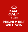 KEEP CALM 'CAUSE MIAMI HEAT WILL WIN - Personalised Poster A4 size