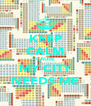 KEEP CALM CAUSE MY CITY NEEDS ME - Personalised Poster A4 size
