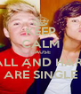 KEEP CALM CAUSE NIALL AND HARRY ARE SINGLE - Personalised Poster A4 size