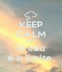 KEEP CALM cause O céu é o limite. - Personalised Poster A4 size