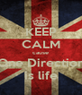 KEEP CALM cause One Direction is life - Personalised Poster A4 size