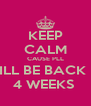 KEEP CALM CAUSE PLL WILL BE BACK IN 4 WEEKS  - Personalised Poster A4 size