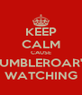 KEEP CALM CAUSE RUMBLEROAR'S WATCHING - Personalised Poster A4 size