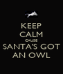 KEEP CALM CAUSE SANTA'S GOT AN OWL - Personalised Poster A4 size