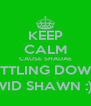 KEEP CALM CAUSE SHADAE SETTLING DOWN  WID SHAWN :)  - Personalised Poster A4 size
