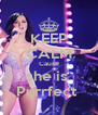 KEEP CALM Cause she is  Purrfect  - Personalised Poster A4 size